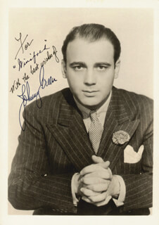 JOHNNY GREEN - AUTOGRAPHED INSCRIBED PHOTOGRAPH