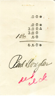 PAUL DOUGLAS - RECEIPT SIGNED