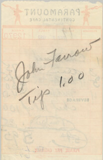 JOHN FARROW - MEAL TICKET SIGNED 02/02/1952