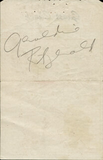 GERALDINE FITZGERALD - MEAL TICKET SIGNED