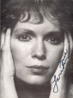 MIA FARROW - PICTURE POST CARD SIGNED