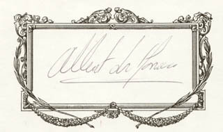Autographs: PRINCE ALBERT (MONACO) - PRINTED CARD SIGNED IN INK