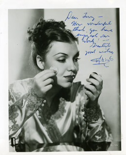 MARGO (MARGO ALBERT) - AUTOGRAPHED INSCRIBED PHOTOGRAPH