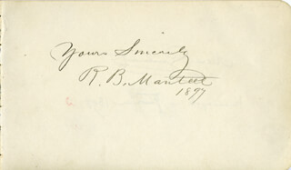 ROBERT B. MANTELL - AUTOGRAPH SENTIMENT SIGNED 1897 CO-SIGNED BY: ALEXANDRE GUILMANT
