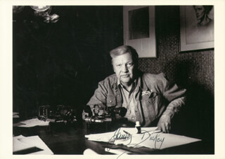 Autographs: JAMES DICKEY - PICTURE POST CARD SIGNED