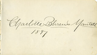 CHARLOTTE BEHRENS MANTELL - AUTOGRAPH 1897