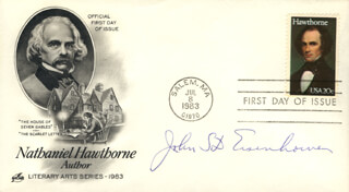 BRIGADIER GENERAL JOHN S.D. EISENHOWER - FIRST DAY COVER SIGNED
