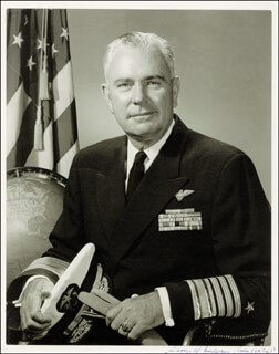 Autographs: ADMIRAL GEORGE W. ANDERSON JR. - PHOTOGRAPH SIGNED