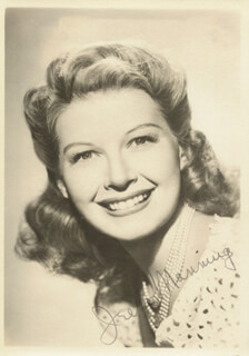 IRENE MANNING - AUTOGRAPHED SIGNED PHOTOGRAPH