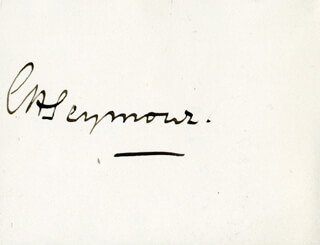 Autographs: ADMIRAL EDWARD HOBART SEYMOUR - SIGNATURE(S)