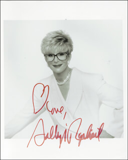 SALLY JESSY RAPHAEL - AUTOGRAPHED SIGNED PHOTOGRAPH