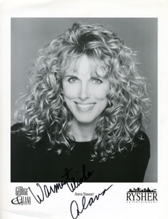 ALANA STEWART - PRINTED PHOTOGRAPH SIGNED IN INK