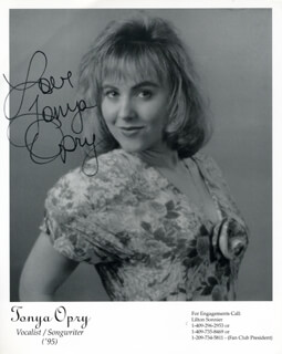 TONYA OPRY - PRINTED PHOTOGRAPH SIGNED IN INK