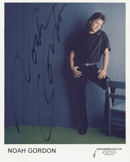 NOAH GORDON - AUTOGRAPHED SIGNED PHOTOGRAPH