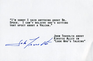 JOHN TRAVOLTA - TYPED QUOTATION SIGNED