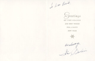 INA BALIN - INSCRIBED CHRISTMAS / HOLIDAY CARD SIGNED