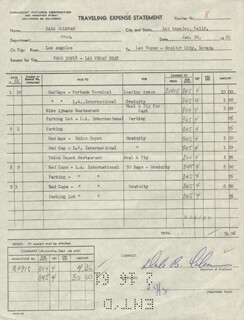DALE B. COLEMAN - DOCUMENT SIGNED 01/30/1961