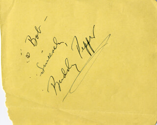 BUDDY PEPPER - AUTOGRAPH NOTE SIGNED