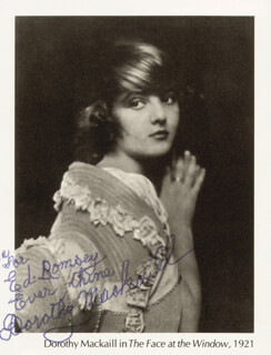 DOROTHY MACKAILL - INSCRIBED MAGAZINE PHOTO SIGNED