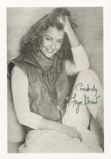FAYE GRANT - AUTOGRAPHED SIGNED PHOTOGRAPH