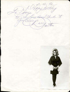 DOLLY PARTON - AUTOGRAPH NOTE SIGNED 02/11/1972