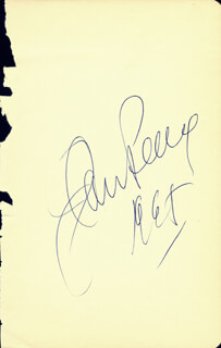 JAN PEERCE - AUTOGRAPH 1965