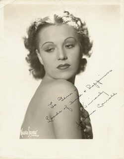 JEAN CARROLL - AUTOGRAPHED SIGNED PHOTOGRAPH
