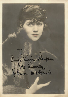 KATHERINE MacDONALD - AUTOGRAPHED INSCRIBED PHOTOGRAPH