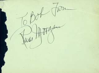 RUSS MORGAN - AUTOGRAPH NOTE SIGNED