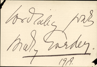 MARY GARDEN - AUTOGRAPH SENTIMENT SIGNED 1919
