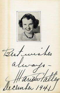 MARION TALLEY - AUTOGRAPH SENTIMENT SIGNED 12/1941