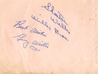 THE WILLIS BROTHERS - AUTOGRAPH SENTIMENT SIGNED CO-SIGNED BY: THE WILLIS BROTHERS (JAMES GUY WILLIS), THE WILLIS BROTHERS (SKEETER CHARLES WILLIS)