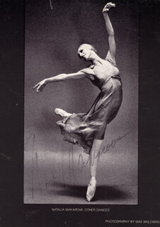 NATALIA MAKAROVA - PICTURE POST CARD SIGNED