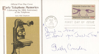 BETTY COMDEN - AUTOGRAPH LYRICS ON FIRST DAY COVER SIGNED