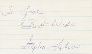 STEPHEN LEHEW - AUTOGRAPH NOTE SIGNED