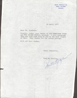 PAUL W. GALLICO - TYPED LETTER SIGNED 04/18/1973