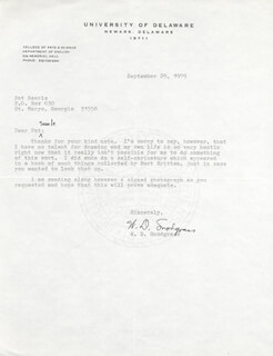 W.D. SNODGRASS - TYPED LETTER SIGNED 09/29/1979