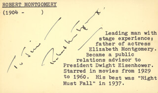 ROBERT MONTGOMERY - INSCRIBED SIGNATURE
