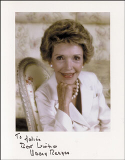 FIRST LADY NANCY DAVIS REAGAN - AUTOGRAPHED INSCRIBED PHOTOGRAPH