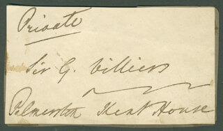 Autographs: PRIME MINISTER HENRY JOHN (VISCOUNT PALMERSTON III) TEMPLE (GREAT BRITAIN) - AUTOGRAPH FRAGMENT SIGNED