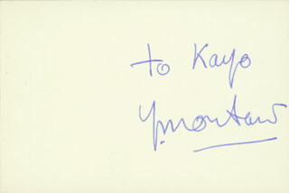 YVES MONTAND - INSCRIBED SIGNATURE