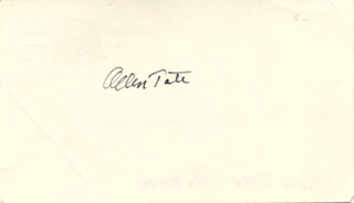 ALLEN TATE - POST CARD SIGNED