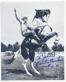 MONTIE MONTANA - AUTOGRAPHED SIGNED PHOTOGRAPH 1981