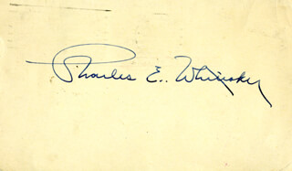 Autographs: ASSOCIATE JUSTICE CHARLES E. WHITTAKER - POST CARD SIGNED CIRCA 1959