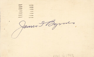 Autographs: ASSOCIATE JUSTICE JAMES F. BYRNES - POST CARD SIGNED CIRCA 1946