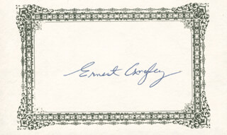 Autographs: ERNEST ANGLEY - PRINTED CARD SIGNED IN INK