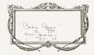 DIANA SERRA BABY PEGGY CARY - PRINTED CARD SIGNED IN INK