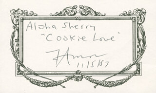 Autographs: WALLY FAMOUS AMOS AMOS - INSCRIBED SIGNATURE 11/15/1987