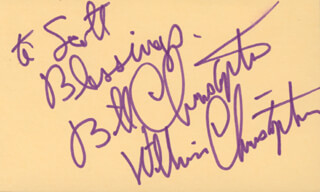 WILLIAM CHRISTOPHER - AUTOGRAPH NOTE SIGNED