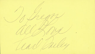 PEARL BAILEY - AUTOGRAPH NOTE SIGNED  - HFSID 224815